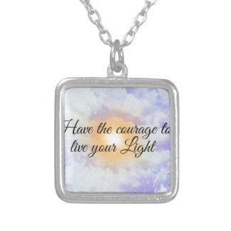 live your light silver plated necklace