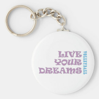 Live Your Volleyball Dreams Basic Round Button Keychain