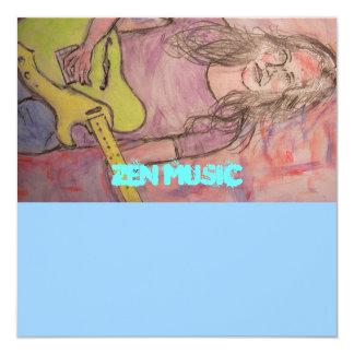 Live Zen Music Girl Sketch Card