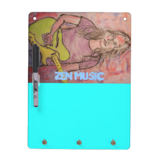 Live Zen Music Girl Sketch Dry Erase Boards