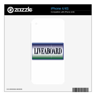 Liveaboard Decal For The iPhone 4