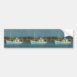 Liveaboard Shrimping Trawler Car Bumper Sticker
