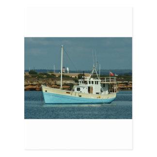 Liveaboard Shrimping Trawler Postcard