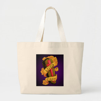Lived Fast Canvas Bags