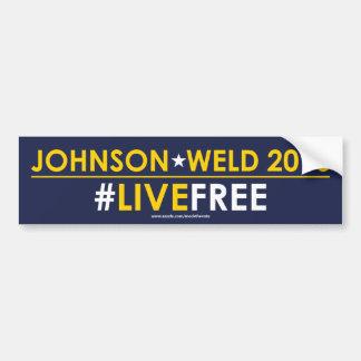 #LIVEFREE libertario de la pegatina para el Pegatina Para Auto