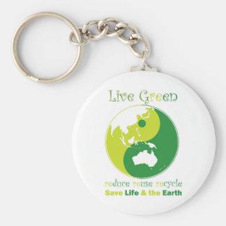 LiveGreen AustralAsia ying yang Key Chains