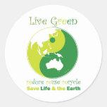 LiveGreen Australasia ying yang Pegatina Redonda
