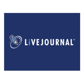 LiveJournal Logo Horizontal Post Card