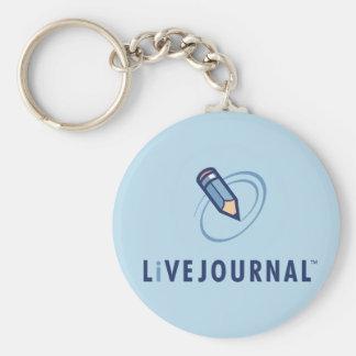 LiveJournal Logo Vertical Basic Round Button Keychain