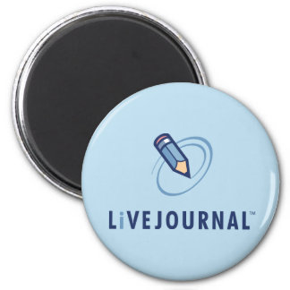 LiveJournal Logo Vertical 2 Inch Round Magnet
