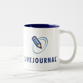 LiveJournal Logo Vertical Two-Tone Coffee Mug