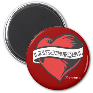 LiveJournal Tattoo 2 Inch Round Magnet