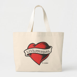 LiveJournal Tattoo Large Tote Bag