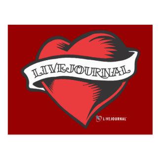 LiveJournal Tattoo Postcard