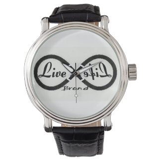 LiveLife Brand Leather Strap Watch