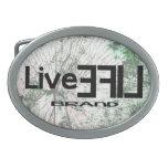 LiveLife Brand Oval Belt Buckle