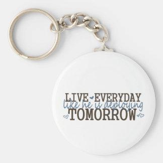 livelikehesdeploying basic round button keychain