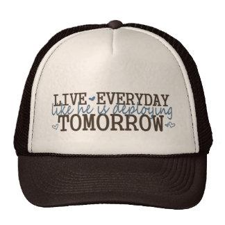 livelikehesdeploying trucker hat
