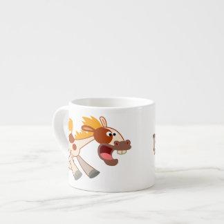 Lively Cartoon Pinto Horse Espresso Mug