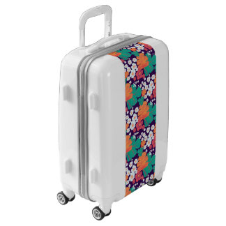 Lively floral and leaves floating in pond luggage