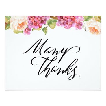 Wedding Themed Lively Florals Thank You Card