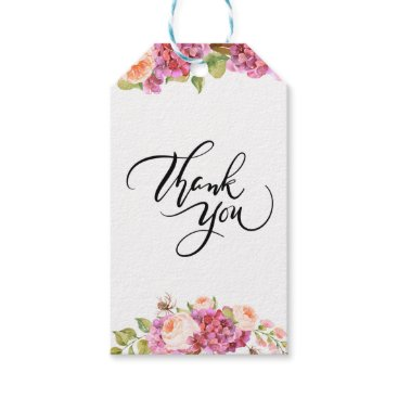 Wedding Themed Lively Florals Thank You Gift Tag