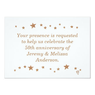 Lively Gold Stars 50th Anniversary Invitations