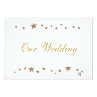 Lively Gold Stars Our Wedding Invitations