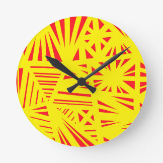 Lively Idea Skilled Humorous Round Clock