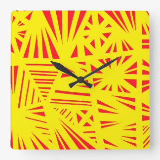 Lively Idea Skilled Humorous Square Wall Clock