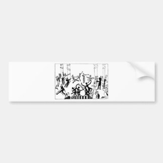Lively Party with Dancing Bumper Sticker