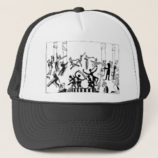 Lively Party with Dancing Trucker Hat