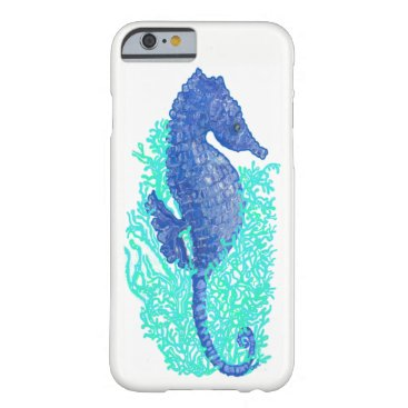 Beach Themed Lively Seahorse iPhone 6/6s, Barely There Case