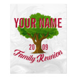 Lively Tree Personalized Family Reunion Flyer