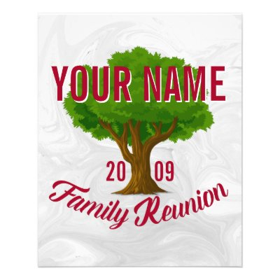 Family Reunion Certificate   Tall Family Tree Flyer | Zazzle.com  Family Reunion Flyer