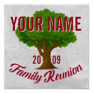 Lively Tree Personalized Family Reunion Poster
