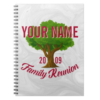 Lively Tree Personalized Family Reunion Spiral Notebook