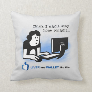 Liver and Wallet Like This Pillow