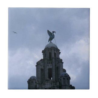 Liver Bird in Liverpool Ceramic Tile