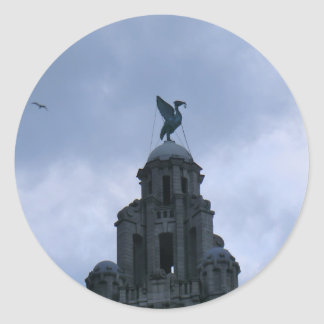 Liver Bird in Liverpool Classic Round Sticker