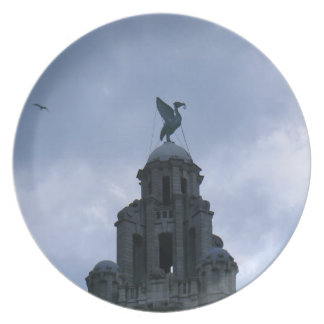 Liver Bird in Liverpool Party Plates