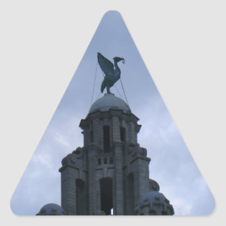Liver Bird in Liverpool Triangle Sticker