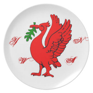 Liver bird party plate