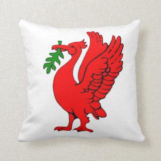 Liver birds throw pillow
