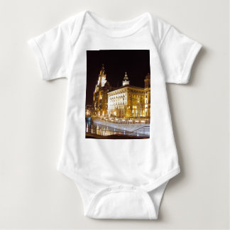 Liver Building & Canal, Liverpool UK Baby Bodysuit