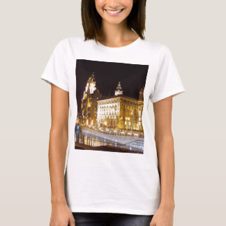 Liver Building & Canal, Liverpool UK T-Shirt