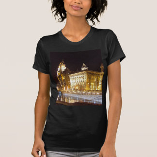Liver Building & Canal, Liverpool UK Tee Shirt