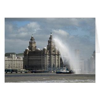Liver Building - Liverpool Card