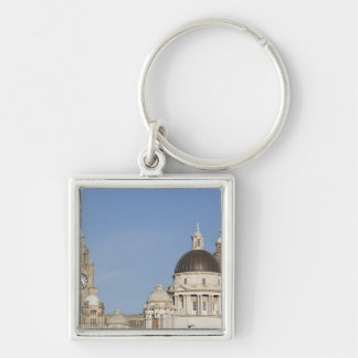 Liver Building, Liverpool, England Keychain