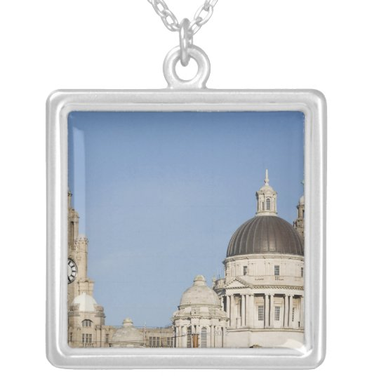 Liver Building, Liverpool, England Silver Plated Necklace